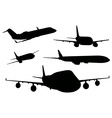 Airplanes in black color vector image vector image