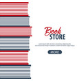 banner book store stack of books vector image vector image