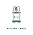 bitcoin storage outline icon monochrome style vector image vector image