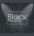 black friday banner on brick wall texture vector image vector image