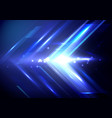 blue abstract arrows sign digital hi technology vector image vector image
