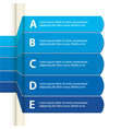 Blue paper infographic