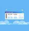 boarding pass concept a big vector image