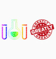 bright dot chemical tubes icon and grunge vector image vector image