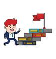 businessman books flag vector image vector image