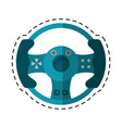 cartoon steering wheel video game vector image