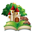 Castle and book vector image vector image