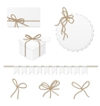 Celebration set with rope bows vector image vector image