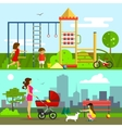 Children playground in flat vector image vector image