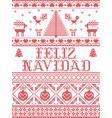 christmas pattern feliz navidad seamless vector image vector image