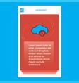 cloud not working mobile vertical banner design vector image