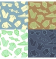 Collection of menswear backgrounds vector image vector image