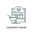 country house line icon linear concept vector image vector image