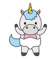 cute little unicorn bacharacter vector image vector image