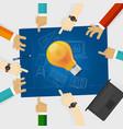 developing idea together make plan teamwork in vector image vector image