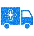 Drone Delivery Van Grainy Texture Icon vector image vector image