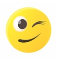 Eyewink emoticon icon cartoon style vector image