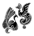 fantasy abstract dragon tattoo vector image vector image