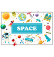 flat space concept vector image vector image