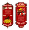 flyer pizzeria design elements for logo label vector image vector image