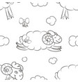 furry sheep flying in the clouds vector image vector image