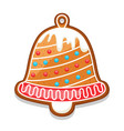 gingerbread cookies bell of merry vector image vector image