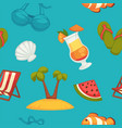great summer bright seamless pattern of holiday vector image
