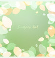 green background of leaves with space for text vector image vector image