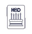 happy birthday invitation card calke candles vector image vector image
