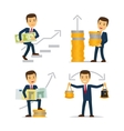 Happy businessman and money vector image