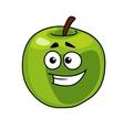 Happy smiling healthy green apple vector image vector image