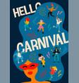 hello carnival funny vector image vector image