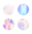 holographic abstract backgrounds set vector image vector image