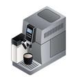 home coffee machine icon isometric style vector image vector image