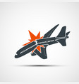 icon plane crash terrorist act in the air vector image vector image