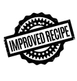 Improved Recipe rubber stamp vector image vector image