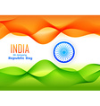indian republic day flag design made with tricolor vector image vector image