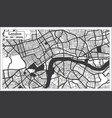 london great britain city map in black and white vector image