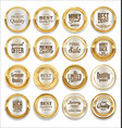 luxury sale silver labels collection vector image vector image