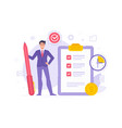 manager completing tasks in time vector image