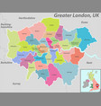 map greater london uk vector image