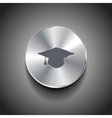metal wi-fi button vector image vector image