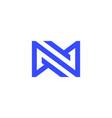 n letter infinity mobius loop logo icon vector image