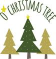 O Christmas Tree vector image vector image