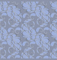paisleys seamless pattern abstract grey floral vector image vector image