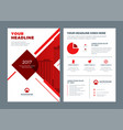 red brochure annual report flyer design template vector image