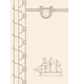 Sailing ship nautical background vector image