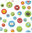 Seamless pattern with education icons vector image vector image