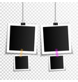 set empty photo frames vector image vector image