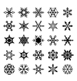 Set of graphical snowflakes vector image vector image